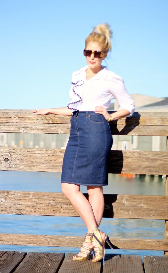 J. Crew Monogram Skirt