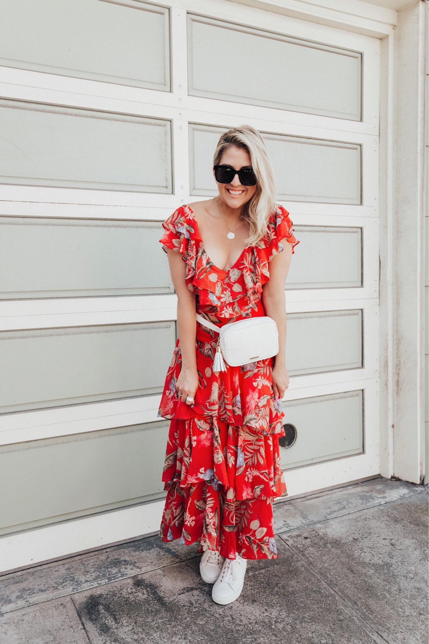 WAYF Chelsea Tiered Ruffle Maxi Dress, Summer Dresses, WAYF, Katwalksf, Kat Ensign, WAYF, Nordstrom