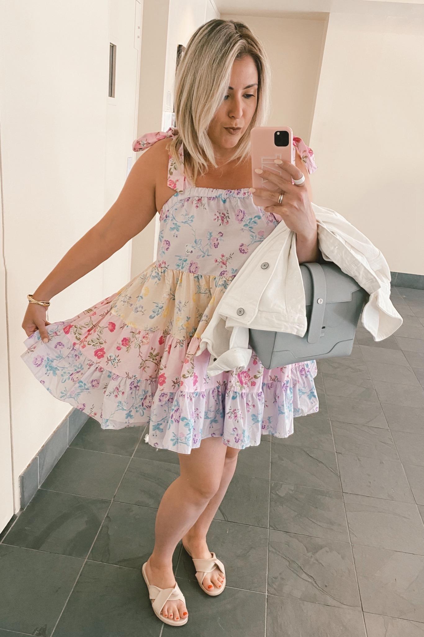 Target Designer Dress Collection, LoveShackFancy for Target Jeanne Tie-Strap Tiered Dress