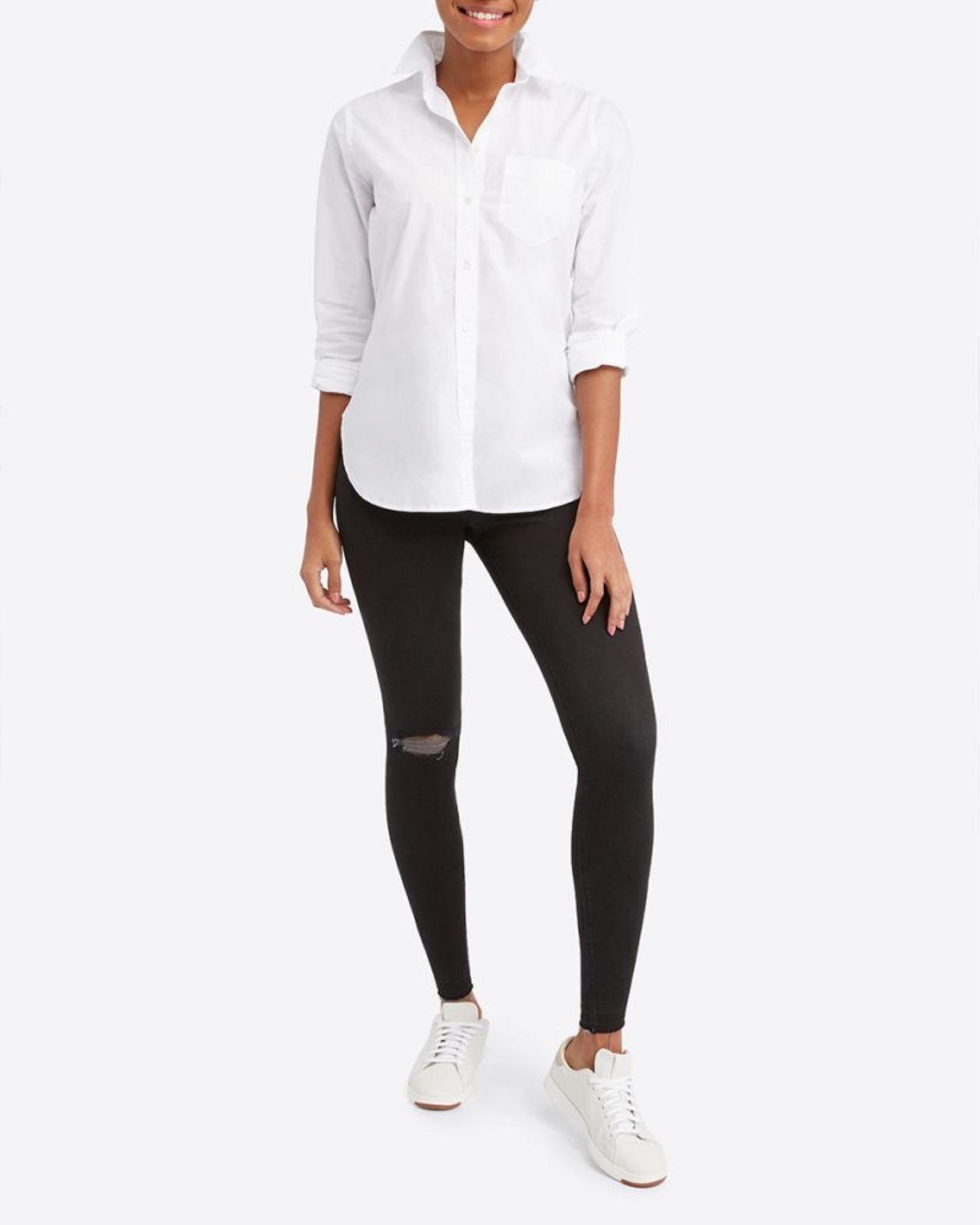 Spanx End of Season Sale, Vintage Distressed Ankle Skinny Jeans