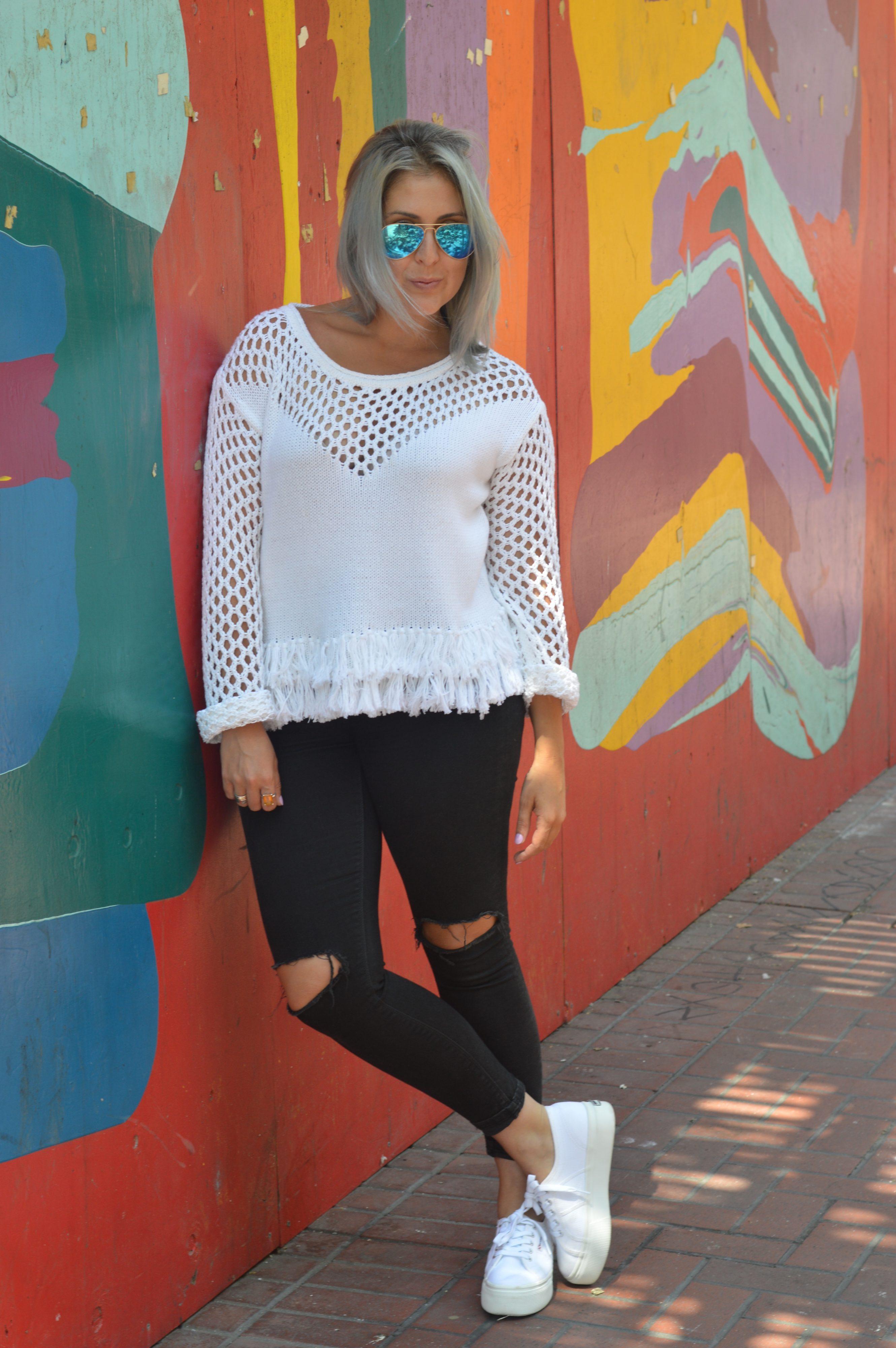 Amour Vert - Tessa Fringe Sweater