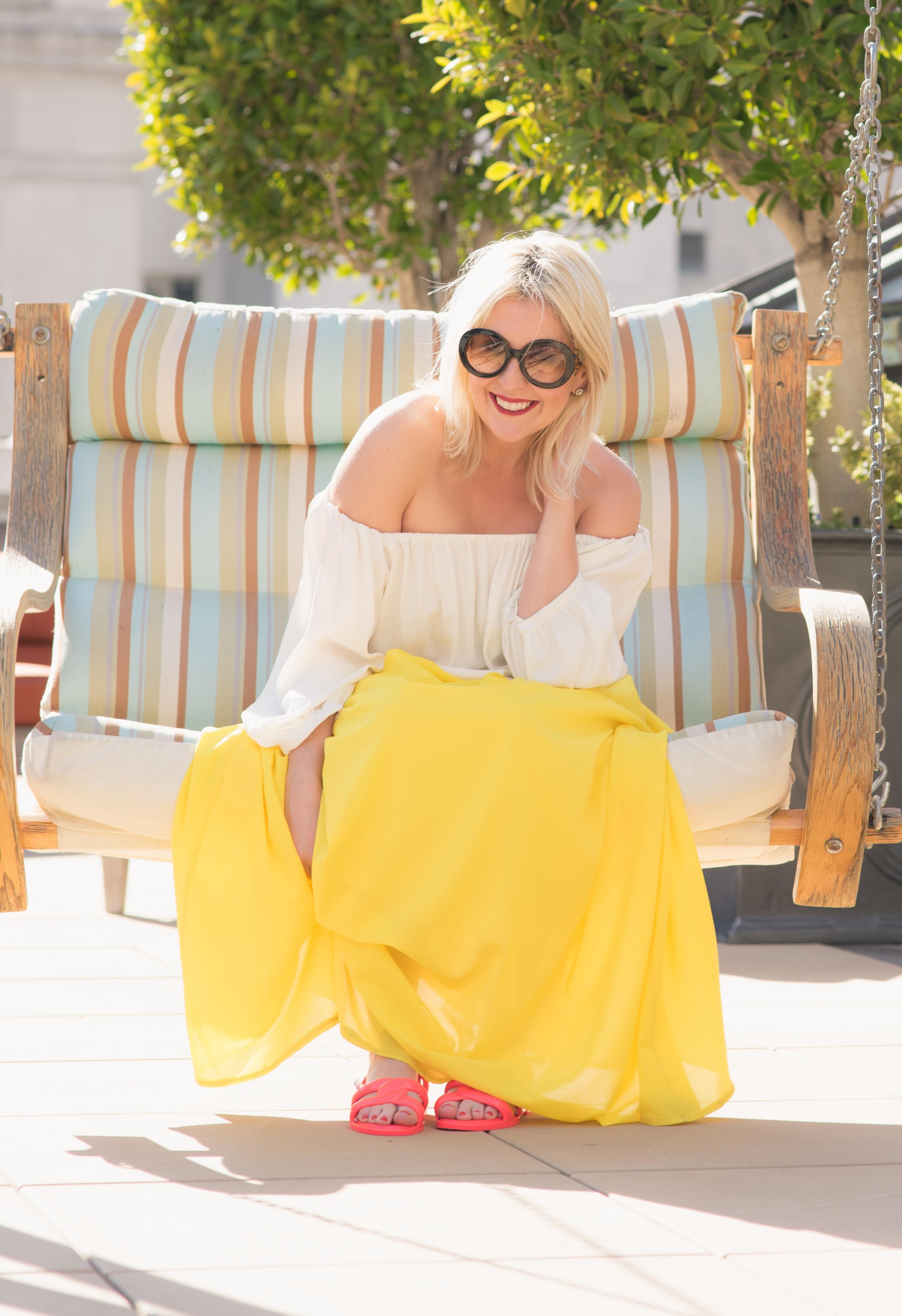 Yellow Maxi Skirt