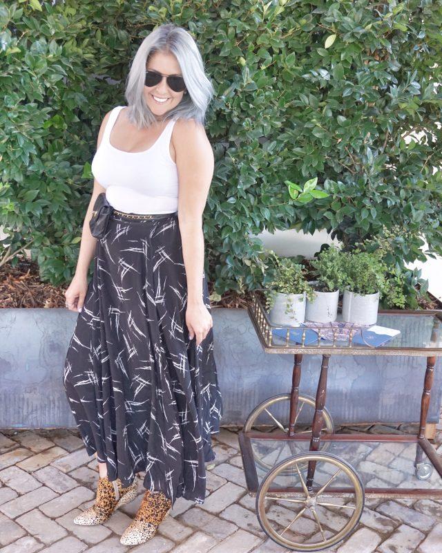 Amour Vert - Flora Silk Maxi Skirt