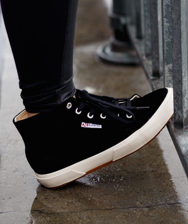 Superga - Velvet High Top Sneakers