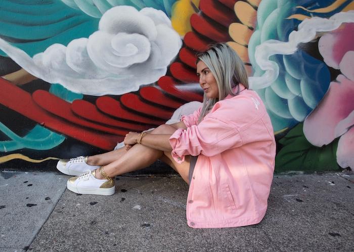 Denim, Denim Jacket, Street Style, Chinatown San Francisco, Kat Ensign, Superga, Pretty Little Thing, Boohoo, Purple Hair, San Francisco, Only San Francisco, Always San Francisco, Summer Style, Stylist, San Francisco Blogger, Blogger Style, Trend Report, Trends,
